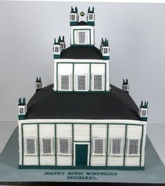 A cake replica of Sharon Temple. Architecture Cake, 3d Cakes, Temple, Temples