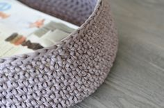 Deko-Objekte - XXL Utensilo Korb taupe Textilkorb Textilgarn - ein Designerstück von Werkart bei DaWanda