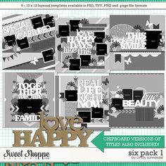 Cindy's Layered Templates - Six Pack 1 by Cindy Schneider