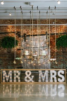 Organic Industrial Wedding Shoot with Marquee Signs | Christiansen Photography on @glamourandgrace via @aislesociety
