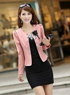 Korean Fashion OL Bow Slim Suit Coat