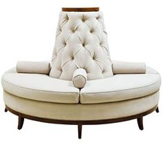 Custom Made Center Round Settee Banquette Sofa In Your Choice Of Fabric Or  Leather U2013 Celebrity