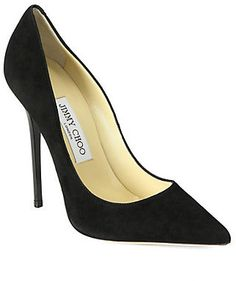 Jimmy Choo Anouk Suede Pumps  WAS $595.00 NOW $416.50–595.00