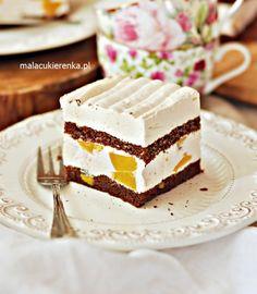 Ciasto Brzoskwiniowa Chmurka Jacque Pepin, Homemade Cakes, Party Cakes, Vanilla Cake, Tiramisu, Cake Recipes, Cheesecake, Food And Drink, Ethnic Recipes