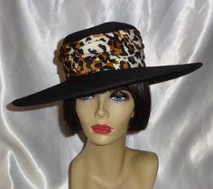 Elegant Vintage Black Wide Brimmed Wool Hat by Belinda from vintagevault on Ruby Lane