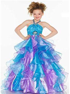 Ebelz Big Girls' Halter Floor with Paillettes Beaded Organza Flower Girl Dress (12, Blue and Purple) Ebelz http://www.amazon.com/dp/B00QM2D9NK/ref=cm_sw_r_pi_dp_FWK3ub0SPK15W
