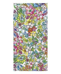 Bold Bright Florals Beach Towel