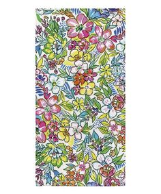 Bold Bright Florals Beach Towel