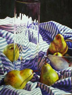 """Cooking with Wine, 30"""" x 22""""   Although Chris  Krupinski has been drawing and painting all of her life, watercolor became her passion after..."""
