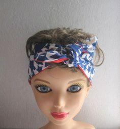 Rockabilly Headband Pin-up BANDANA Vintage by CrochetnMoreByAlida
