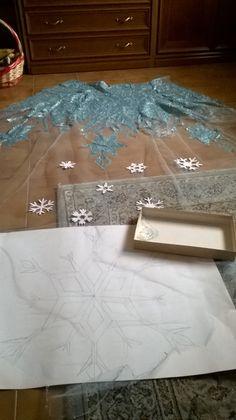 how to make Elsa's cape