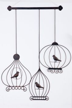 Picture Frames and Wall Art - Bird Cage Wall Art - EziBuy New Zealand