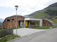 Armin Blasbichler's home in South Tyrol.  Would you call it a log cabin?