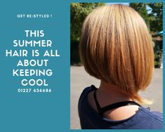 """It's warm out  and summer is all about keeping cool!   Take a look at the A symmetrical bob we did on Helen. Her left side is shorter that her right side and she is #💕 how cool this makes her feel on humid days💇♀️ """"Thanks for sorting out my haircut Nikki. I get a lot of compliments on it and it keeps me really cool on muggy night.""""  Book your re-style with one of our top Stylists or Salon Educator today!  #haircut #re-style #newhaircut #blowdry #haircolour #freeconsultation…"""