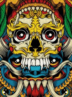 As cores vibrantes na arte de Chris ParksZupi