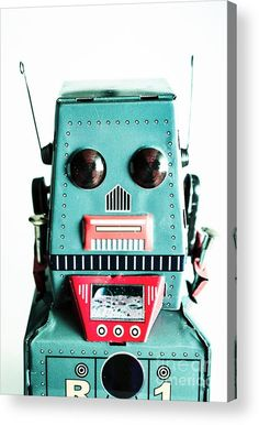 Blue Robotic Acrylic Print featuring the photograph Retro Eighties Blue Robot by Jorgo Photography - Wall Art Gallery