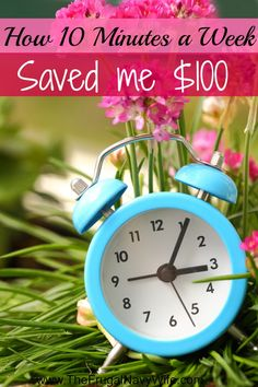 How to Save Money - How 10 Minutes a Week With My Husband is Saving Me $100 a Month! I'm wanting to find out what she is doing!