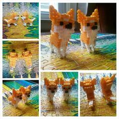 3D Akita dog perler beads by HigurashiKarly - Pattern: http://www.pinterest.com/pin/374291419005024395/
