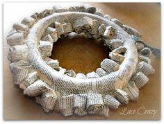 Lace Crazy: DIY Paper Rosette Wreath ~ Paper Roses...