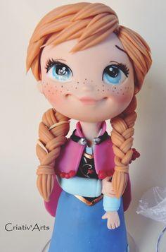 Topo de bolo Anna Customizada