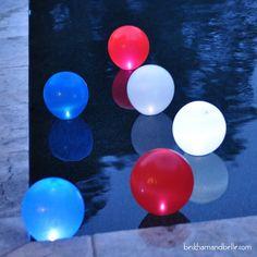 Fourth of July Themed DIY Pool/Garden Orbs