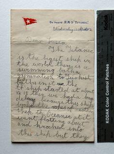 Titanic accident before it even set off on doomed voyage recalled in schoolgirl's letter - Mirror Online