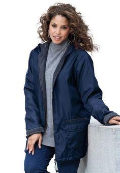 Women's plus nylon jacket