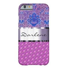 Customize this purple fish scale and botanical barely there iPhone 6 case