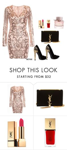 """""""SPRING """" by betty-sanga ❤ liked on Polyvore featuring Yves Saint Laurent and Burberry"""