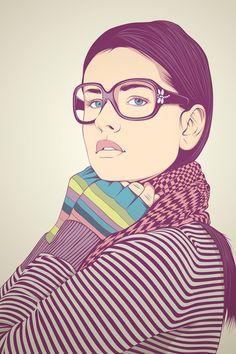 @Jill Meyers Meyers Meyers Meyers Matthews you could make portraits like this on illustrator