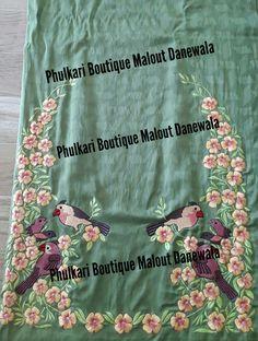Trendy Bird Embroidery On Kurtis Ideas Embroidery Suits Punjabi, Embroidery On Kurtis, Hand Embroidery Dress, Kurti Embroidery Design, Bird Embroidery, Embroidery Monogram, Hand Embroidery Designs, Boutique Suits, Designer Punjabi Suits
