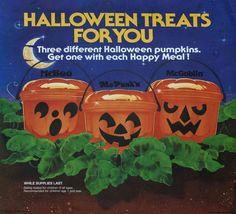 McDonald's Halloween Happy Meal: 1986 Halloween Pails Halloween Buckets, Halloween Treats, Halloween Pumpkins, Retro Halloween, Fall Halloween, Happy Halloween, Halloween History, Halloween Pics, Halloween Costumes