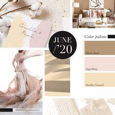 Pantone Colors: Warm Sand, Angel Wing, Vanilla Custard -- Follow Paper Couture Studio on Instagram and Facebook! @papercouturestudio --