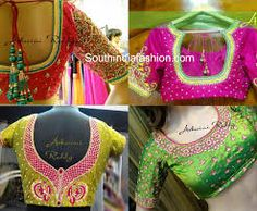 Image result for blouse neck designs for wedding saree