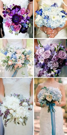 30 Purple & Blue Wedding Bouquets ❤ If you've chosen purple, lavender, plum or blue as your signature colour, browse this gallery to find the perfect wedding bouquet to complement your style. See more: http://www.weddingforward.com/purple-blue-wedding-bouquets/ #wedding #bouquet