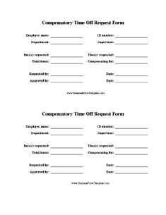 Lovely This Printable Has Two Identical Copies Of A Form Employees Can Use To  Request Compensatory Time