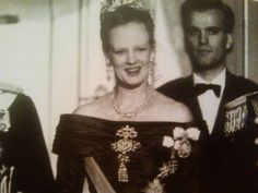 HM Queen Margarethe wearing another stomacher from the Rosenberg suite