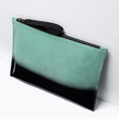 ZARA - SHOES & BAGS - GRADUATED COLOR LEATHER CLUTCH BAG