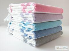 Aegean Striped Towel / Peshtemal ( Set Of 5) - CottonCloudCo