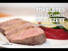 Tökéletes rozé kacsamell céklapürével, grillezett zöldségekkel - GastroGranny a tudatosan táplálkozók lapja Beef, Food, Meat, Essen, Meals, Yemek, Eten, Steak