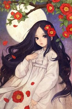 Menina e as flores