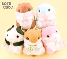 Buy Amuse Korohamu Koron Hamster Sweets 13cm Standard Plush at Tofu Cute