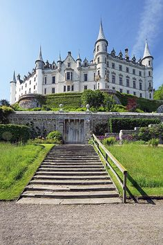 Castle Photograph - Dunrobin Castle by Grant Glendinning Beautiful Castles, Beautiful Places, Fantasy Castle, Castle In The Sky, Scottish Castles, Castle House, Beautiful Architecture, Medieval, Scenery