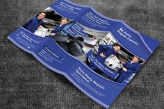 Auto Repair Service Trifold Brochure by Creative Designer on @creativemarket