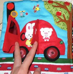 quiet book car ride page
