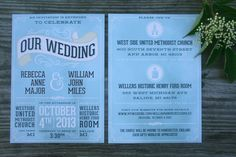 design, card, invitation, wedding, blue, white, layout,