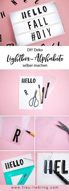 Individuelle DIY Alphabete für die Lightbox / Lichtbox ganz einfach selber machen. Handlettering, Lettering, Typographie, Buchstaben. Tolle Deko für dein Zuhause.