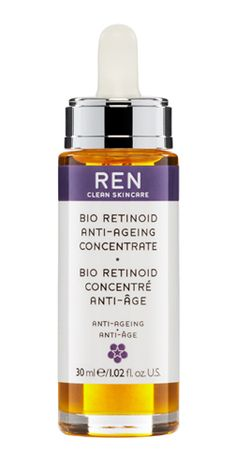 REN Bio Retinoid Anti-Aging Concentrate - pure, potent 100% nature-derived Vitamin A, Pro Vitamin A & Retinoid Analogue combat appearance of wrinkles, age spots, imperfections & leaves Skin visibly brighter, smoother, younger, without the irritating effects of synthetic Retinol @Evan Sharp B
