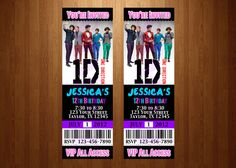 One Direction ticket invites you print Do It by PerfectPartyParade, $13.00