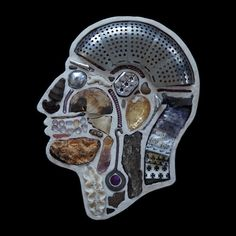 Medical diagram portraits created from found objects - Design daily news